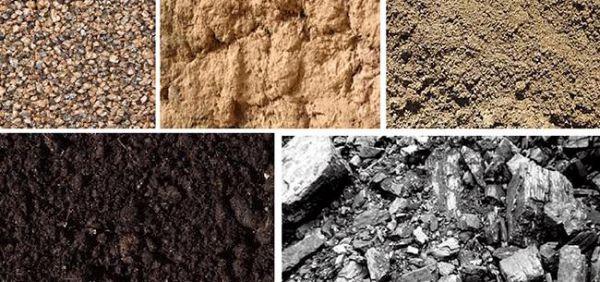 Внешний вид разных видов грунта