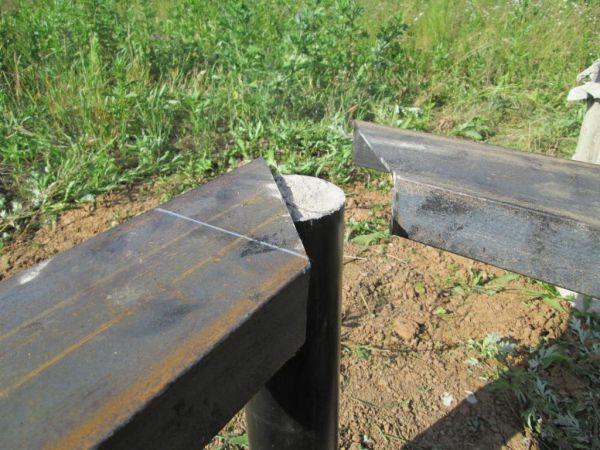 Стыковка швеллера в местах угловых соединений