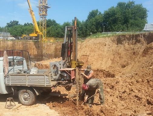 Испытание грунта на сдвиг