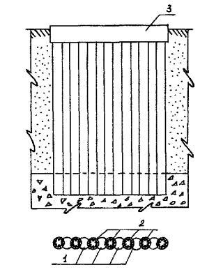 схема фундамента из буросекущих свай