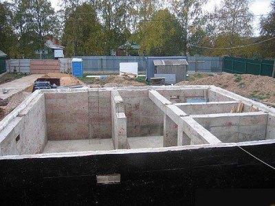 Ленточный фундамент глубокого заложения с цокольным этажом