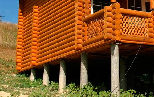 опорно-столбчатый фундамент из асбоцементных труб